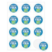 """Round Quick & Colorful Sheeted Label (2 1/4"""" Diameter)"""