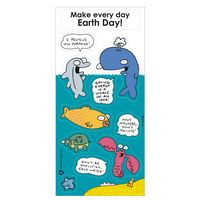 Recycled Paper Environmental Sticker Sheet w/ Cartoon Sea Animal