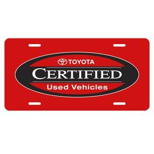 License Plate 0.023 Plastic License Plate w/Slots (6x12)