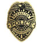 Custom Police Badge Paper Lapel Sticker On Roll