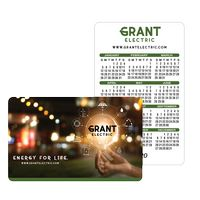 "Offset Full Color Plastic Calendar Card w/ Open Blocks (0.030"" Thick)"