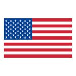 Custom White Vinyl U.S. Flag Removable Adhesive Decal (1 7/16