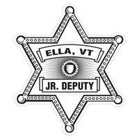 Sheriff Star Paper Lapel Sticker On Roll
