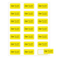 "Rectangle Quick & Colorful Sheeted Label (1""x2"")"