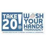 Custom Take 20! Wash Your Hands Sticker (4