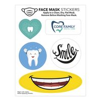 "Face Mask Stickers (4 1/2"" x 3 1/2"" Sheet)"