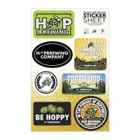 "Select Your Sticker Sheet / 4 Stock Layouts (7""x11"" Sheet)"