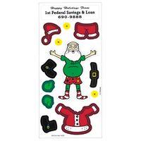 Peel N Play Christmas Holiday Sticker Sheet (Santa Claus & Clothing)