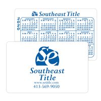 "White Vinyl Plastic Horizontal Calendar Card w/ Lined Blocks (0.020"" Thick)"