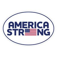 "America Strong Ultra Removable Adhesive Bumper Sticker (4""x6"")"