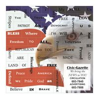 Land Of The Free Message Magnets
