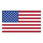 Custom White Vinyl U.S. Flag Removable Adhesive Decal (2 1/4