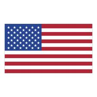 "White Vinyl U.S. Flag Removable Adhesive Decal (2 1/4""x4"")"