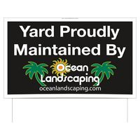 "Double Sided Full Color 24 Point Poster Board Yard Sign (21""x34 1/2"")"