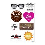 Custom Water Bottle, Cooler & Tumbler Sticker Sheet/ 7 Stock Shapes (7
