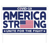 "America Strong Double-Sided Yard Sign (16""x26"") Includes Wire Frames"