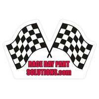 "Racing Flags 0.03"" Thick Vinyl Die Cut Large Stock Magnet"