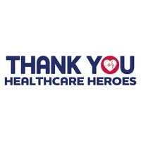 "Thank You Healthcare Heroes Ultra Removable Bumper Sticker (3""x11 1/2"")"