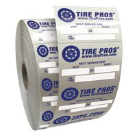 """Roll of Clear Static Cling Decals for Car Windshield (1 1/2""""x2 1/4"""")"""