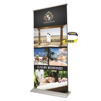 Indoor Double Sided Retractor Banner Stand w/ Banner