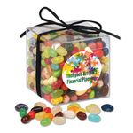 Custom Stylish Acetate Cube with Jelly Belly Jelly Beans