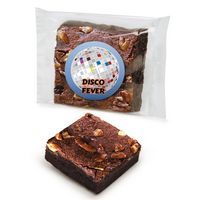 Custom Labeled Chocolate Pecan Brownie