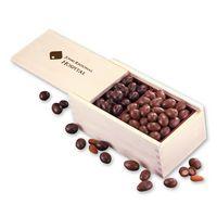 Milk & Dark Chocolate Covered Almonds in Wooden Collector