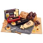 Custom Genuine Slate Cheese Plate with Party Favorites