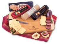 Shelf-Stable Wisconsin Variety Package with Bamboo Cutting Board