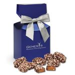 Custom English Butter Toffee in Metallic Blue Gift Box
