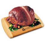 Custom Spiral-Sliced Whole Ham with Bamboo Cutting Board