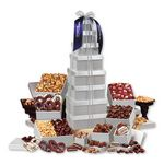 Custom Shimmering Silver Delights Giant Party Tower