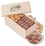 Custom Toffee & Jumbo Cashews in Wooden Collector's Box