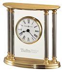 Custom Howard Miller New Orleans Solid Brass Clock w/ 4 Silver Columns