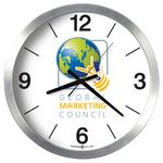 Custom Howard Miller Spokane Brushed Aluminum Wall Clock (Full Color Custom Dial)
