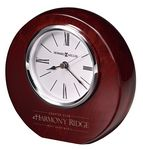 Custom Howard Miller Adonis Round Rosewood Desktop Clock w/ Flat Bottom