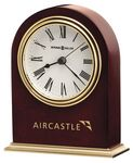 Custom Howard Miller Craven Satin Rosewood Arch Clock w/ Metal Base