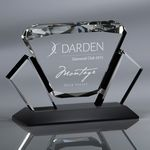 Custom Howard Miller Diamante optical crystal award