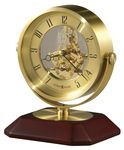 Custom Howard Miller Soloman Brass Finish Round Pivoting Clock