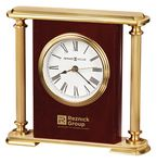 Custom Howard Miller Rosewood Encore Bracket Clock w/ Brass Columns