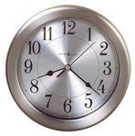 Custom Howard Miller Pisces water resistant nickel-finished wall clock