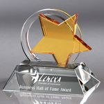 Custom Howard Miller Nova optical crystal award