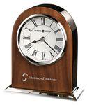 Custom Howard Miller Palermo Walnut Veneer Table Clock