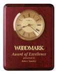 Custom Howard Miller Honor Time I Rosewood Rectangle Clock Plaque