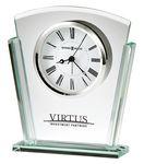 Custom Howard Miller Granby beveled glass tabletop clock