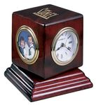 Custom Howard Miller Reuben Swivel Cube Clock w/ Picture Frame