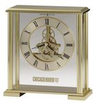 Custom Howard Miller Fairview Brass Finish & Glass Skeleton Movement Clock