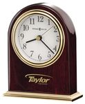 Custom Howard Miller Monroe Gloss Rosewood Arch Clock w/ Brass Finish Base