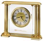 Custom Howard Miller Athens Brushed Solid Brass Clock w/ 4 Columns