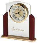 Custom Howard Miller Winfield glass tabletop alarm clock